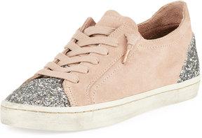 Dolce Vita Xyla Classic Suede Glitter Sneaker, Blush