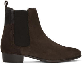 H By Hudson Brown Suede Watts Chelsea Boots