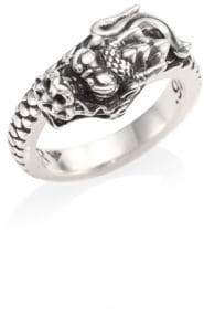 King Baby Studio Sterling Silver Dragon Coil Ring