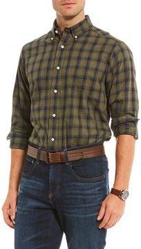 Daniel Cremieux Plaid Heather Twill Long-Sleeve Woven Shirt