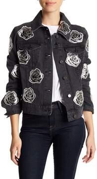 Bagatelle Rose Applique Denim Jacket