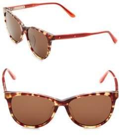 Bottega Veneta 55MM Tortoise Cat-Eye Sunglasses