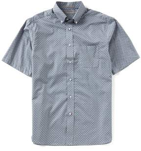 Daniel Cremieux Signature Geo Clover Short-Sleeve Woven Shirt