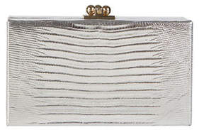 Edie Parker Jean Lizard Framed Clutch Bag
