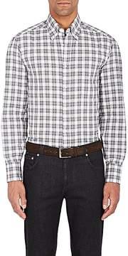 Brunello Cucinelli Men's Checked Cotton Shirt