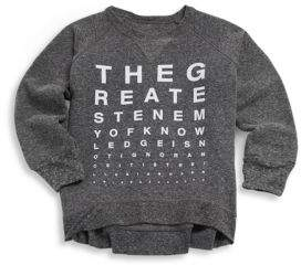 Nununu Toddler's & Little Boy's Vision Test Cotton Sweatshirt