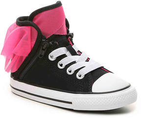 Converse Chuck Taylor All Star Block Party Toddler High-Top Sneaker -Black/Pink - Girl's