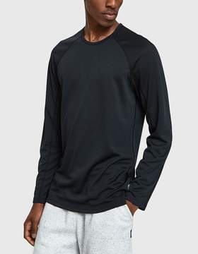 Reigning Champ LS Raglan Tee Honeycomb Mesh in Black