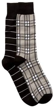 Lorenzo Uomo Assorted Dress Socks - Pack of 2