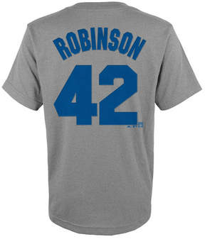 Majestic Jackie Robinson Brooklyn Dodgers Player T-Shirt, Big Boys (8-20)