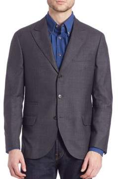 Brunello Cucinelli Solid Wool Blazer