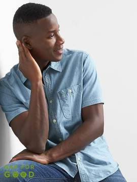 Gap Icon denim worker shirt