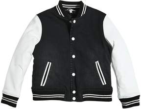 Little Marc Jacobs Denim & Leather Quilted Bomber Jacket