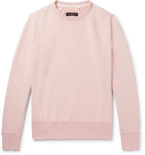 Rag & Bone Racer Loopback Cotton-Jersey Sweatshirt