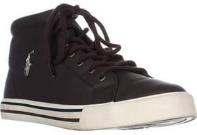 Polo Ralph Lauren Scholar Boy's High-top Sneakers, Chocolate.