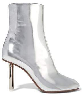 Vetements Metallic Leather Ankle Boots