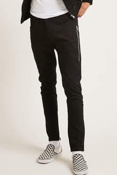 21men 21 MEN Slim-Fit Ankle Zip Pants