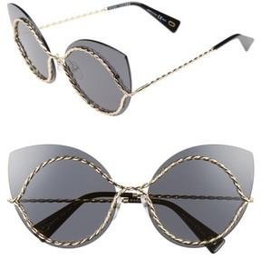 Marc Jacobs Women's 61Mm Rimless Cat Eye Sunglasses - Gold