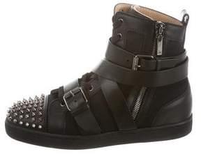 Christian Louboutin Spike Cap-Toe High-Top Sneakers