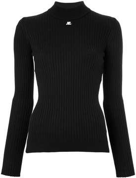 Courreges mockneck long sleeve top