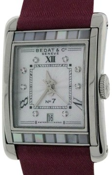 Bedat & Co No.7 Stainless Steel Mother of Pearl & Diamonds Womens Watch