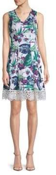 Donna Ricco Printed Sleeveless Dress