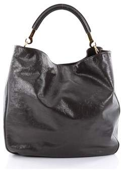 Saint Laurent Pre-owned: Roady Hobo Patent Large. - GRAY - STYLE