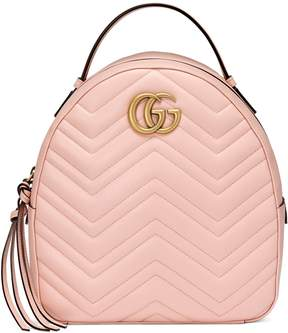 Gucci GG Marmont quilted leather backpack - LIGHT PINK CHEVRON LEATHER - STYLE