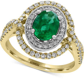 Effy Brasilica Emerald (1-1/8 ct. t.w.) and Diamond (5/8 ct. t.w.) Ring in 14k Gold, Created for Macy's and White Gold, Created for Macy's