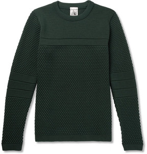 S.N.S. Herning Torso Textured-Knit Wool Sweater