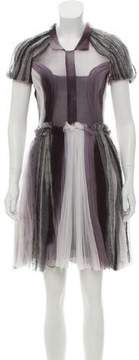 Rodarte Silk Mesh Dress