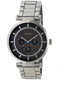 Simplify The 4800 Unisex Silver Tone Bracelet Watch-Sim4802