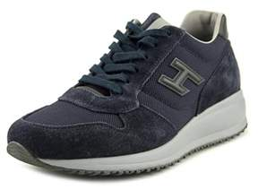 Hogan Evaristo Youth Round Toe Suede Blue Walking Shoe.
