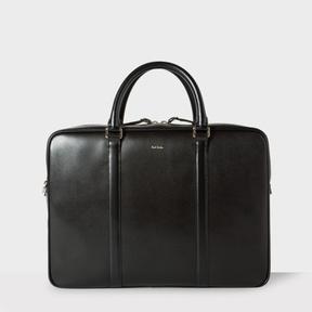 Paul Smith Men's Black 'City Embossed' Leather Business Folio