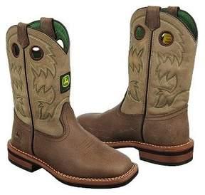 John Deere Kids' Tan Bronco Leather Cowboy Boot Toddler/Preschool