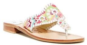 Jack Rogers Pink Paisley Thong Sandal