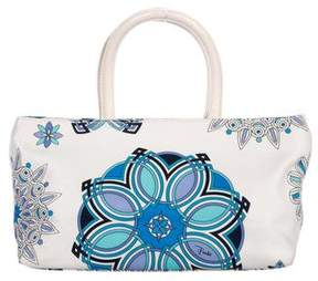 Emilio Pucci Leather-Trimmed Printed Canvas Bag