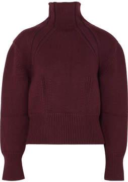 Bottega Veneta Wool-blend Turtleneck Sweater - Burgundy