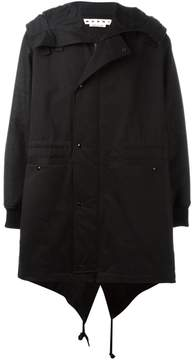 Marni drop tail hem parka