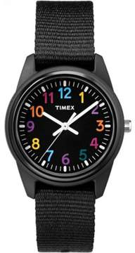 Timex Girls Time Machines Black Watch, Nylon Strap