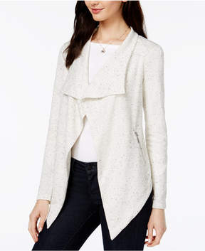 Bar III Draped Speckled Cardigan, Created for Macy's