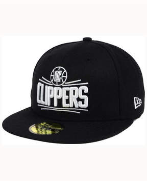 New Era Los Angeles Clippers Black White 59FIFTY Cap