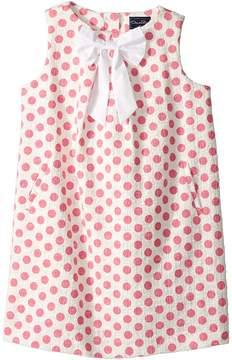 Oscar de la Renta Childrenswear Dots On Tweed Pleat Bow Dress Girl's Dress