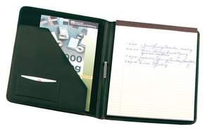 Royce Leather Royce Luxury Suede Lined Genuine Leather Writing Portfolio - Green