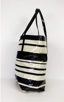 Kate Spade Black & White Daycation Striped Tote