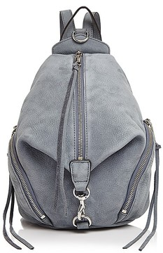 Rebecca Minkoff Julian Medium Nubuck Backpack - DUSTY BLUE/SILVER - STYLE
