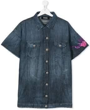 Diesel TEEN embroidered denim shirt