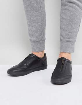 Asos Sneakers In Black With Zip