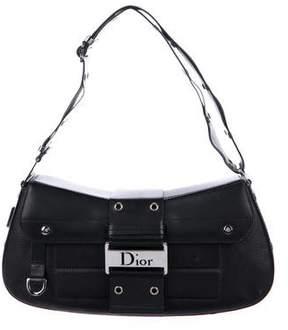 Christian Dior Leather Buckle Satchel Bag