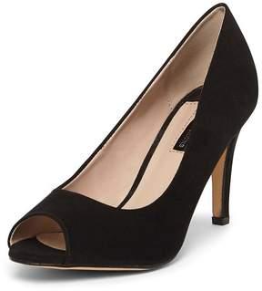 Dorothy Perkins Black 'Clover' Peep Toe Court Shoes